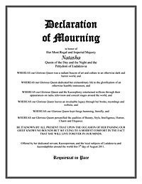 Declaration of Mourning