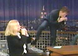 Barbara Stewart with Conan OBrien