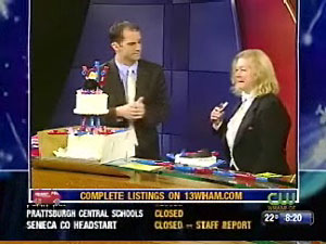 Barbara on Channel 13 Celebrating National Kazoo Day.